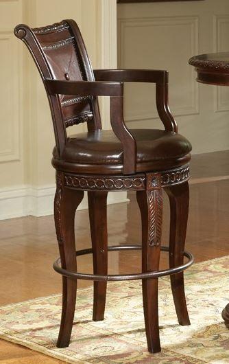 Steve Silver Co. Antoinette Swivel Bar Chair-AY700CC