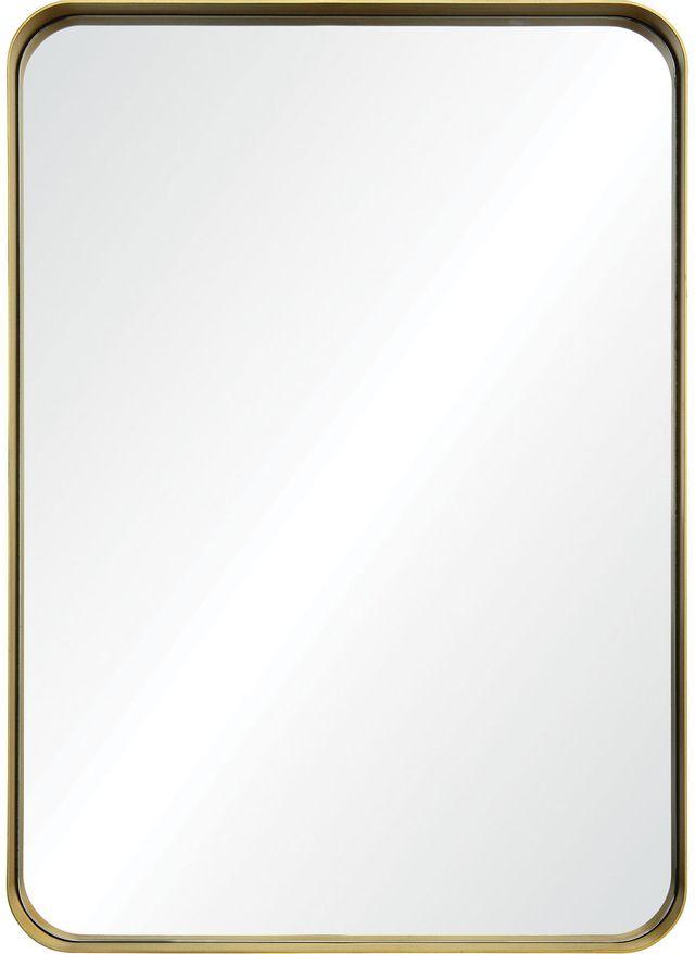 Miroir en aluminium Barton, feuille d'or, Renwil®-MT2145