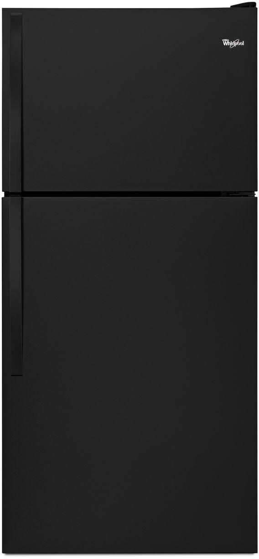 Whirlpool® 18.2 Cu. Ft. Top Freezer Refrigerator-Black-WRT318FMDB