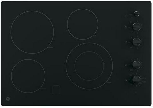 "GE® 30"" Electric Cooktop-Black-JP3530DJBB"