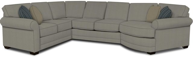 England Furniture Co. Brantley 4 Piece Culpepper Cement/Alvarado Mineral/Starry Twilight Sectional-5630-28-22-43-95+8612+8379+8601