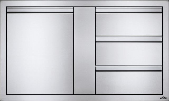 Tiroir de rangement d'extérieur Napoleon® - Acier inoxydable-BI-4224-1D3DR