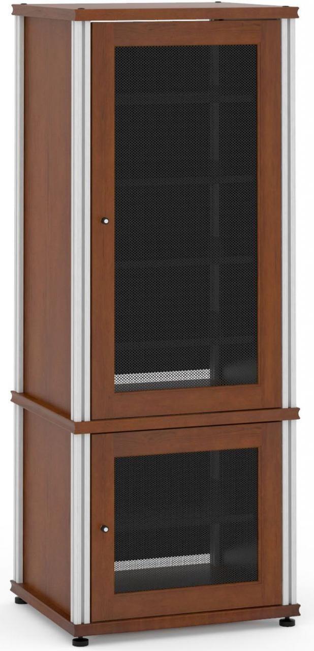 Salamander Designs® Synergy Model 603 AV Cabinet-Dark Cherry/Aluminum-603C/A