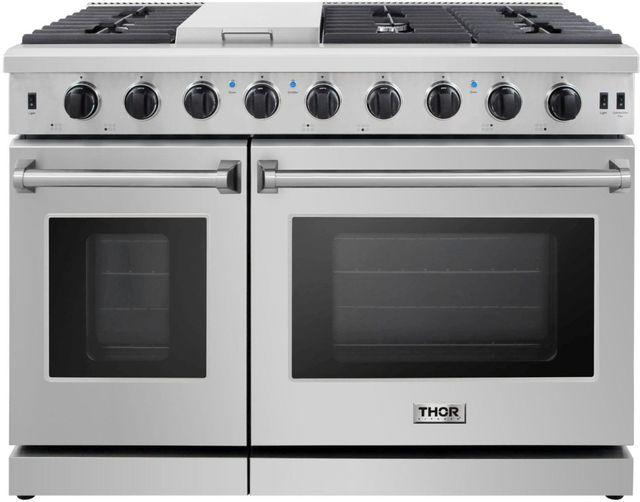 "Thor Kitchen® 48"" Stainless Steel Pro Style Gas Range-LRG4807U"