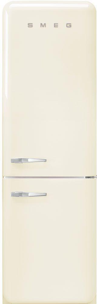 Smeg 50's Retro Style Aesthetic 11.69 Cu. Ft. Cream Bottom Freezer Refrigerator-FAB32URCR3