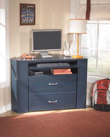 Signature Design by Ashley® Corner Corner Media Desk with Stool-B103-15