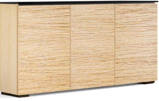 Salamander Designs® Chameleon Denver Natural Oak  Low Profile 337 AV Cabinet-C1/DV337/NO