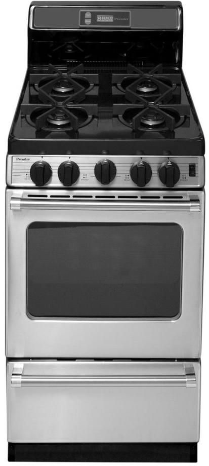 """Premier Pro Series 21"""" Stainless Steel Pro Style Gas Range-P20S3502PS"""