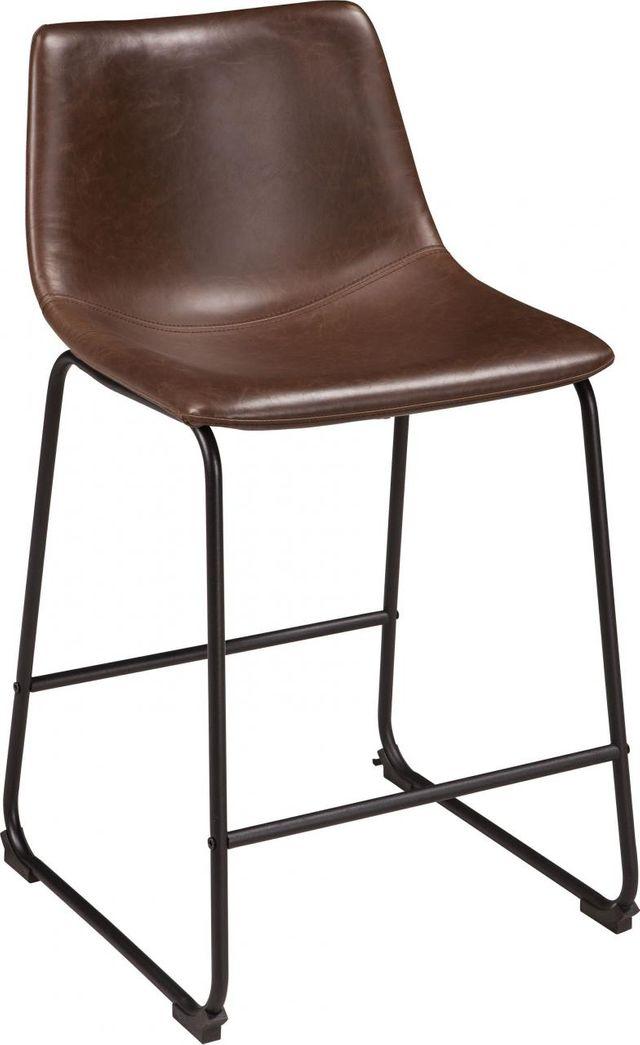 Signature Design by Ashley® Centiar Brown/Black Upholstered Barstool-D372-124