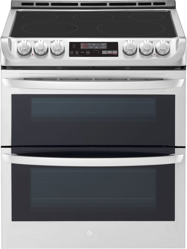 """LG 30"""" Stainless Steel Slide In Electric Double Oven Range-LTE4815ST"""