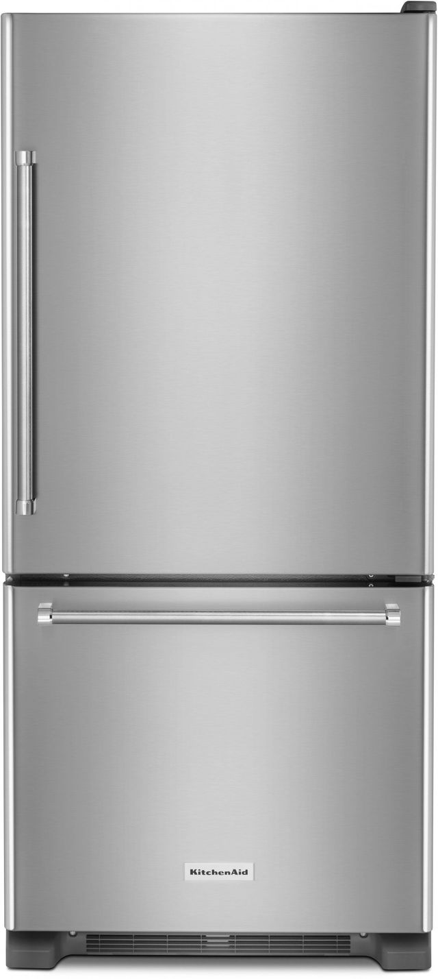 Kitchenaid 18 67 Cu Ft Stainless Steel Bottom Freezer Refrigerator Krbr109ess Daniel Appliance Company