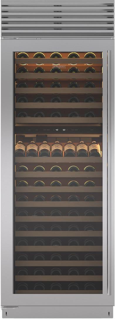 """Sub-Zero® 30"""" Stainless Steel Built In Column Wine Storage-BW-30/S/TH-LH"""