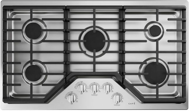 """Café™ 36"""" Stainless Steel Built In Gas Cooktop-CGP70362NS1"""