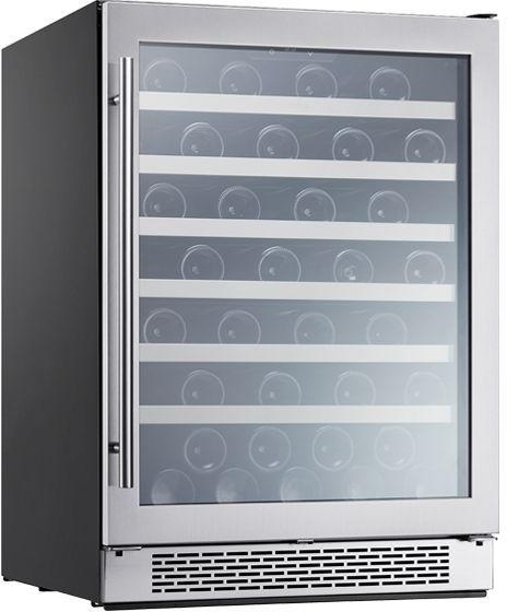 """Zephyr Presrv™ 23.88"""" Stainless Steel Frame Single Zone Wine Cooler-PRW24C01BG-12-0LSB"""