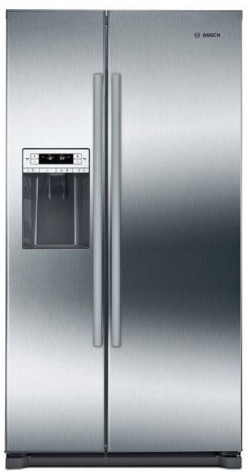 Bosch 300 Series 20.2 Cu. Ft. Counter Depth Side By Side Refrigerator-Stainless Steel-B20CS30SNS