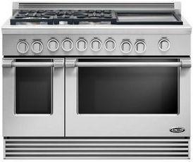 "DCS Professional Series 48"" Pro Style Dual Fuel Double Oven Range-RDV-485GD-N"