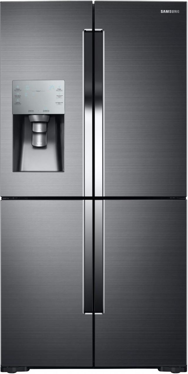 Samsung 28.0 Cu. Ft. 4-Door Flex™ Refrigerator-Fingerprint Resistant Black Stainless Steel-RF28K9070SG