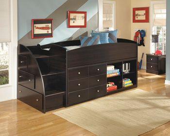 Signature Design by Ashley® Embrace Left Storage Steps w/Loft Ends-B239-13L