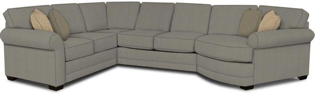 England Furniture Co. Brantley 4 Piece Culpepper Cement/Alvarado Mineral/Paradigm Smoke Sectional-5630-28-22-43-95+8612+8178+8601