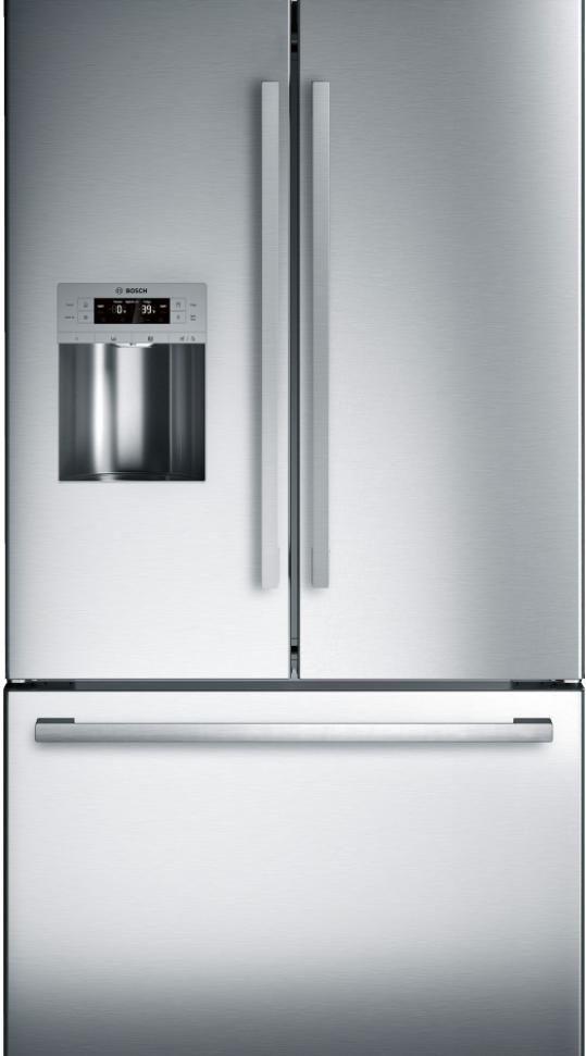 Bosch 800 Series 25 Cu. Ft. Standard Depth French Door Refrigerator-Stainless Steel-B26FT50SNS