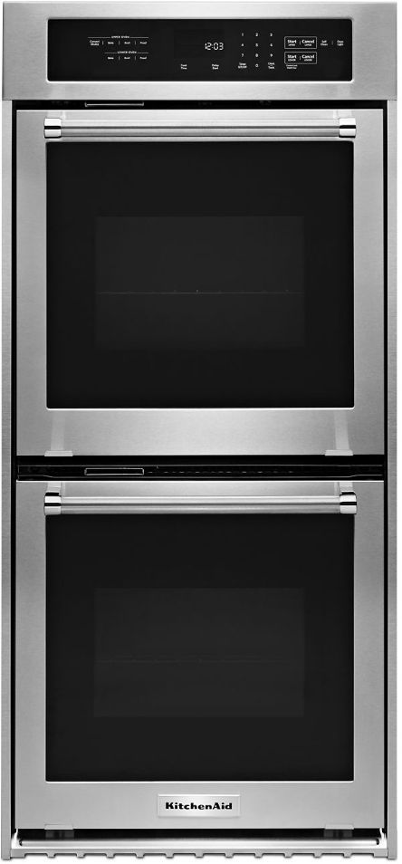 """KitchenAid® 23.75"""" Stainless Steel Electronic Double Oven Built In-KODC304ESS"""