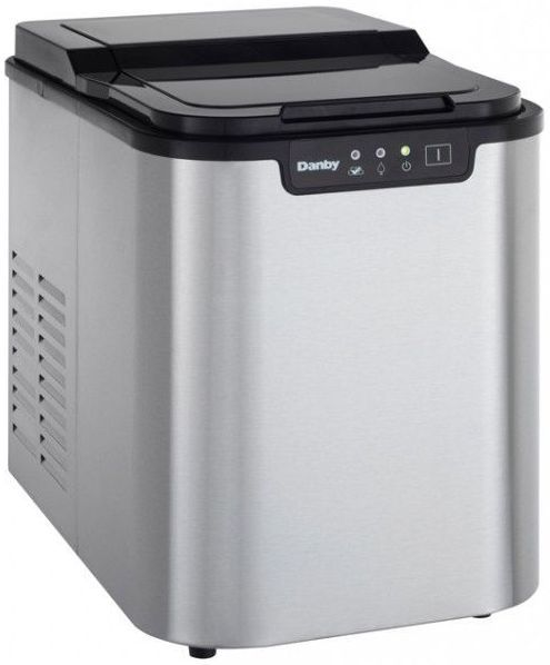 Danby® Ice Maker-Black and Stainless Steel-DIM2500SSDB