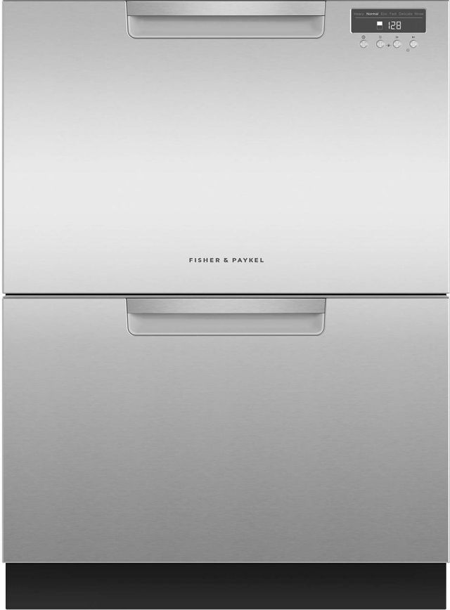 """Fisher & Paykel Series 5 24"""" Stainless Steel Double DishDrawer™ Dishwasher-DD24DAX9 N"""