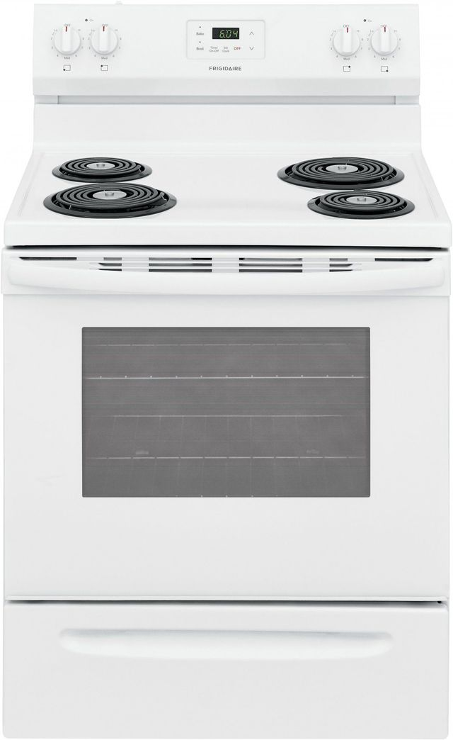 """Frigidaire® 30"""" White Free Standing Electric Range-FCRC3012AW"""