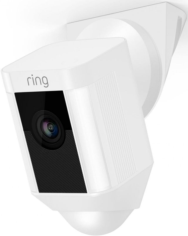 Ring White Spotlight Wired Cam Ceiling Mount-8833888911449