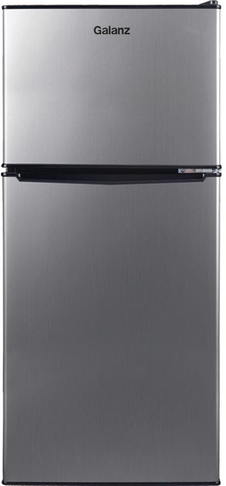 Galanz 7.6 Cu. Ft. Stainless Steel Look Top Mount Freezer Refrigerator-GLR76TS1E