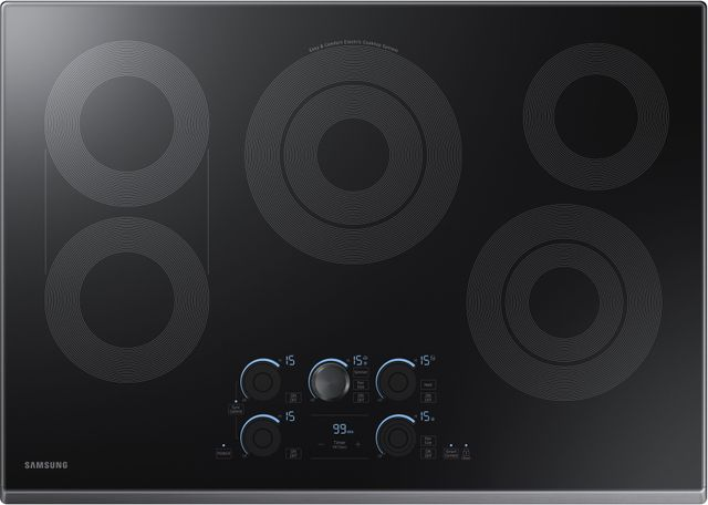 "Samsung 30"" Electric Cooktop-Fingerprint Resistant Black Stainless Steel-NZ30K7570RG"