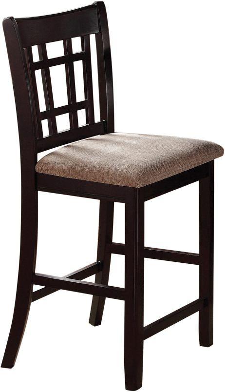 Coaster® Lavon Lattice Back Tan Espresso Counter Height  Chair -105279