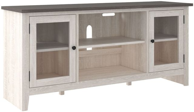 Signature Design by Ashley® Dorrinson Two-Tone Large TV Stand with Fireplace Option-W287-68