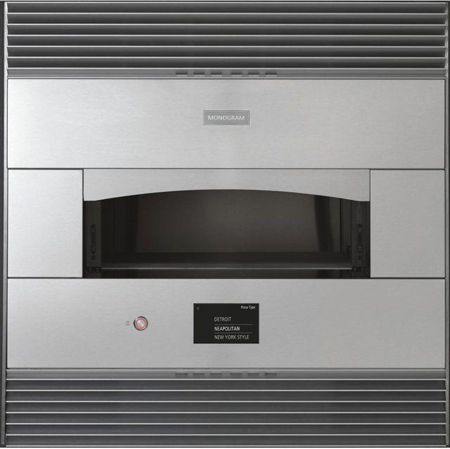 """Monogram® 29.81"""" Stainless Steel Smart Flush Hearth Oven-ZEP30FLSS"""