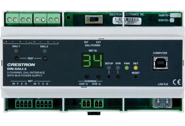 Crestron® DIN Rail 2-Channel DALI® Interface-DIN-DALI-2