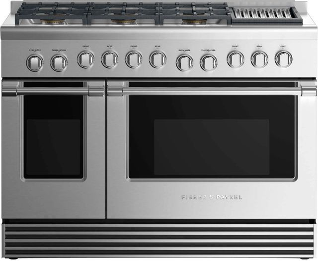 """Fisher & Paykel 48"""" Pro Style Gas Range-Stainless Steel-RGV2-486GLL N"""