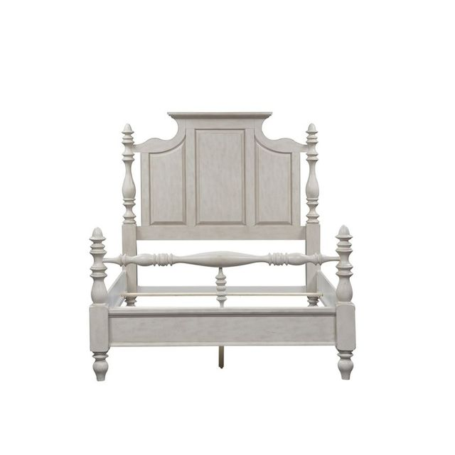 Liberty Furniture High Country Antique White King Poster Headboard-697-BR03