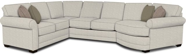 England Furniture Co. Brantley 4 Piece Culpepper Snow/Alvarado Mineral/Anthropology Peacock Sectional-5630-28-22-43-95+8613+8739+8601