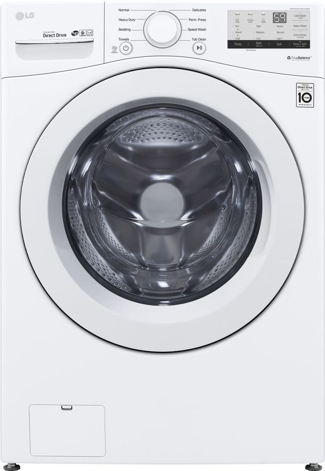 LG 4.5 Cu. Ft. White Front Load Washer-WM3400CW