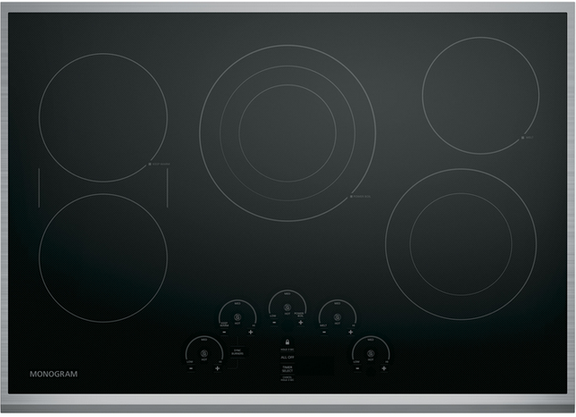 """Monogram® 30"""" Touch Control Electric Cooktop-Stainless Steel-ZEU30RSJSS"""