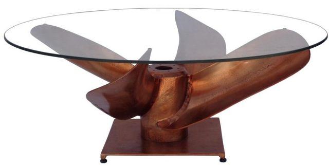 Table de café ronde Archimedes, bronze, Moe's Home Collections®-FI-1062-42