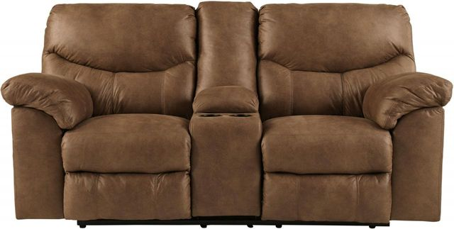 Signature Design by Ashley® Boxberg Bark Double Reclining Lovese at with Console-3380294
