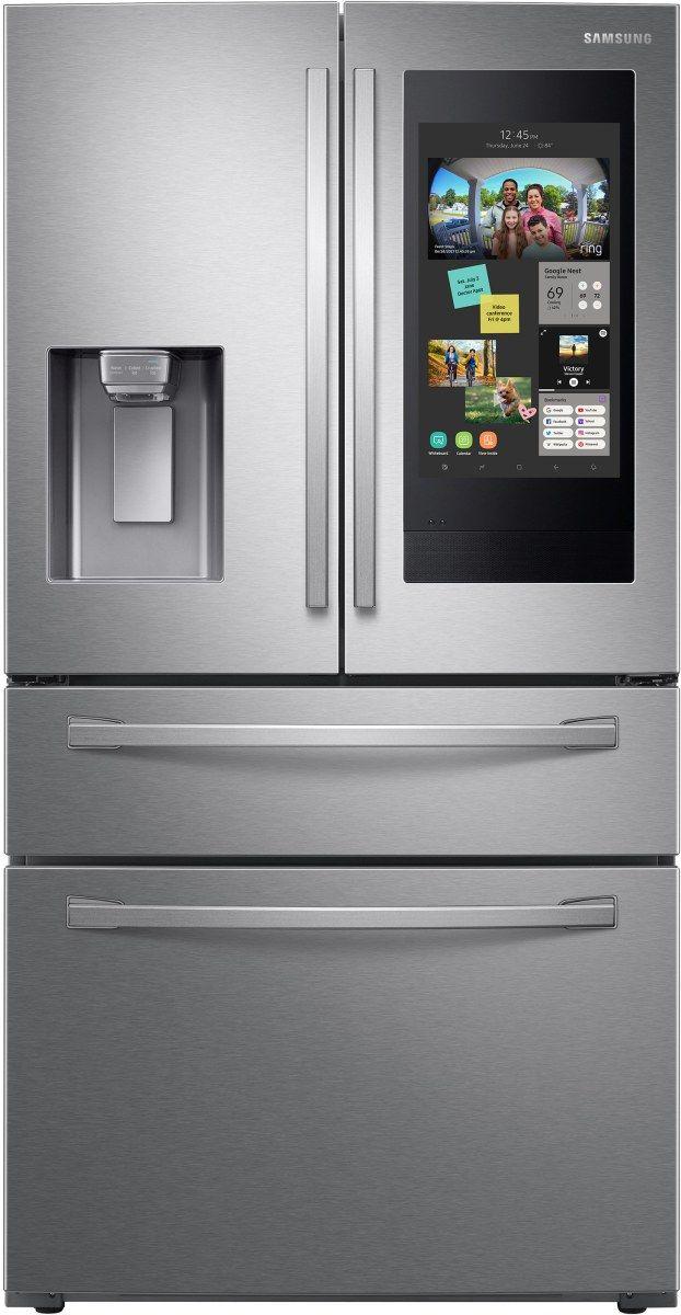 Samsung 22.2 Cu. Ft. Fingerprint Resistant Stainless Steel Counter Depth French Door Refrigerator-RF22R7551SR