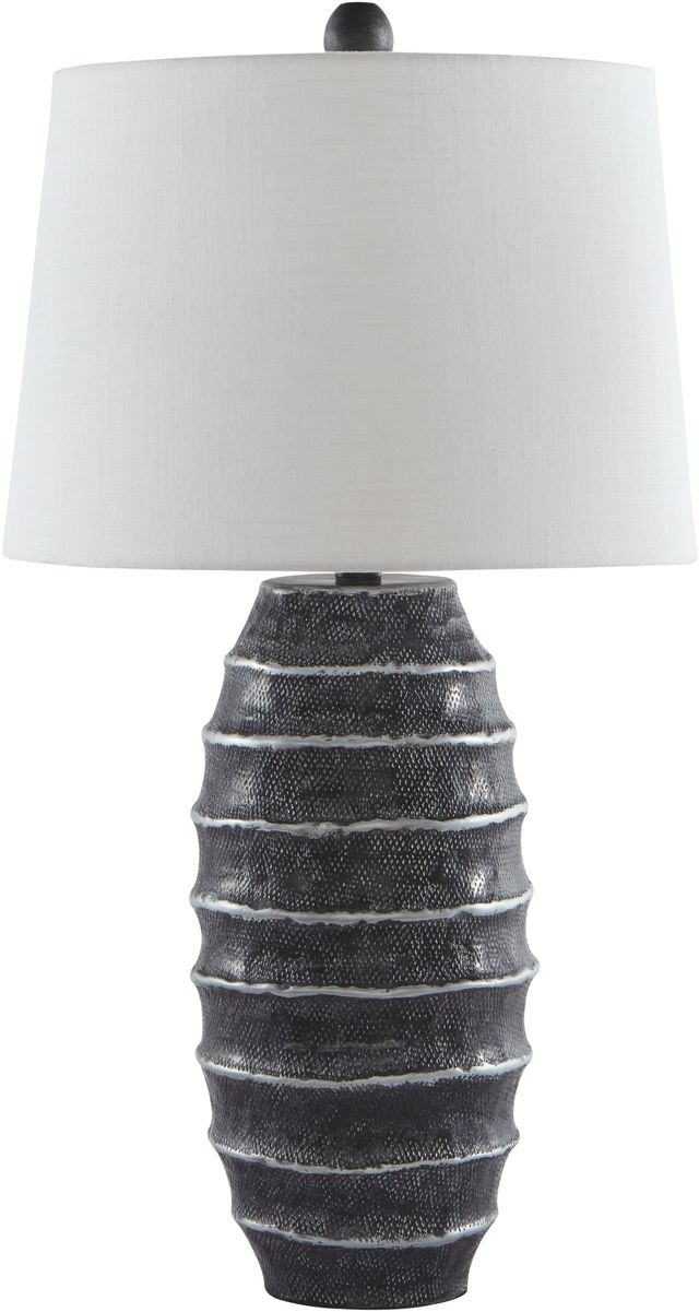Signature Design by Ashley® Billow Antique Silver Metal Table Lamp-L207374