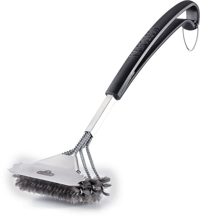 Napoleon Bristle-Free Triple-Row Grill Brush with Rolled Stainless Steel-62059