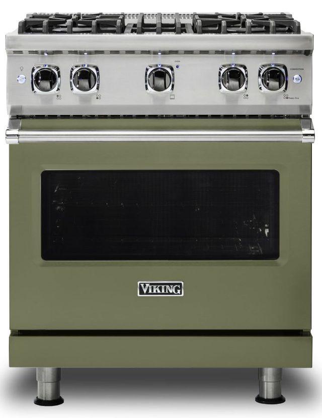 "Viking® 5 Series 30"" Cypress Green Pro Style Liquid Propane Gas Range-VGR5304BCYLP"