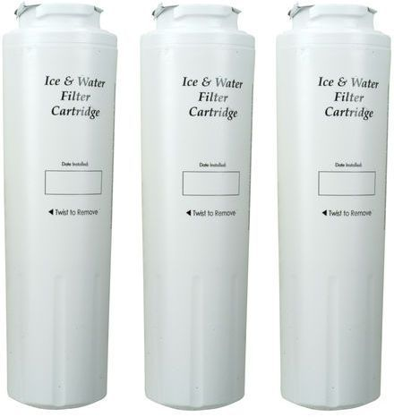 Whirlpool Bottom Mount Refrigerator Water Filter- Interior Turn Cyst (3 Pack)-4396395T