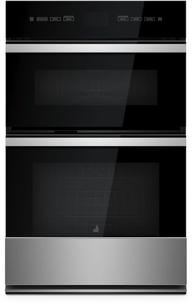 "JennAir® NOIR™ 27"" Floating Glass Black Electric Oven/Microwave Combo Built In-JMW2427IM"