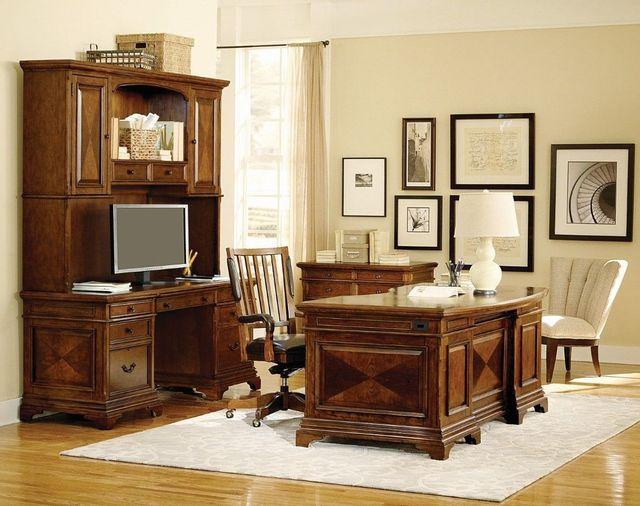 Aspenhome™ Hawthorne Cherry Executive Desk Base-I26-300B-1