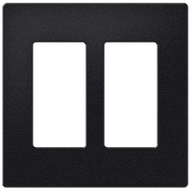 Crestron® 2-Gang Decorator Style Faceplate-Black-FP-G2-DM-B-T